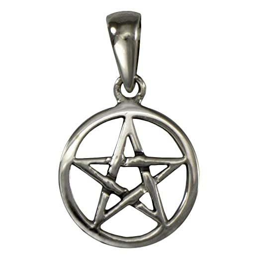 Sterling Silver 925 Pentagram Large Pendant (37 MM Diameter And Weighs 10 Grams) Y0QB85DlHb
