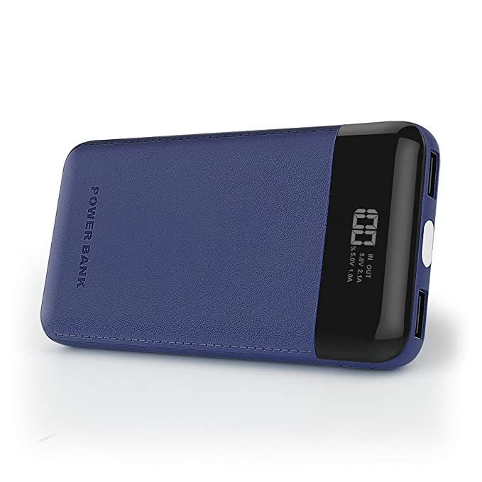 DINTO Bateria Externa 10000mAh Power Bank, Cargador Móvil Portátil Compacto con la exhibición de Digitaces LED elegante para iPhone, iPad, Samsung, ...
