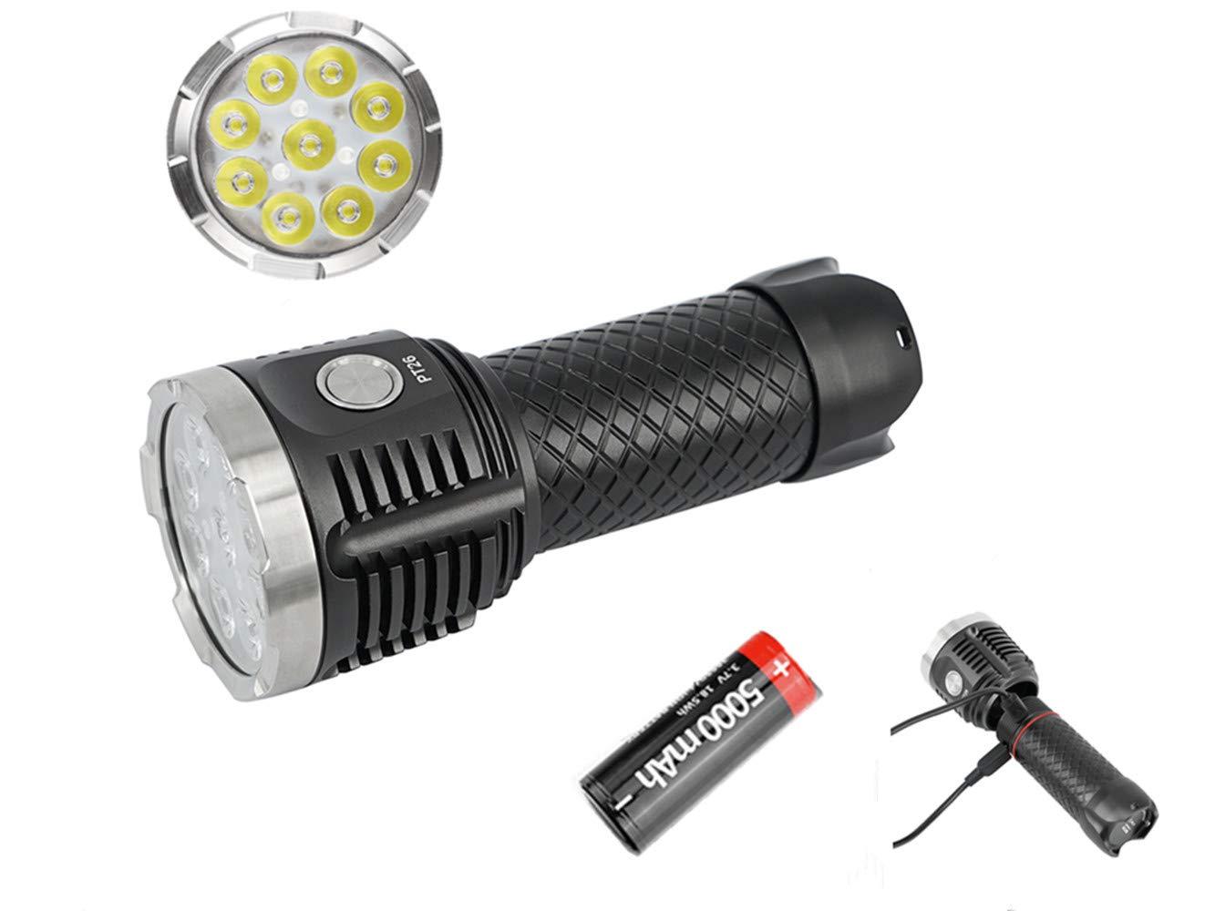 MecArmy PT26ウルトラブライト3850ルーメン2 USB充電ポート6モードパワーバンク機能IPX-8防水懐中電灯 B07QX5ZPCT