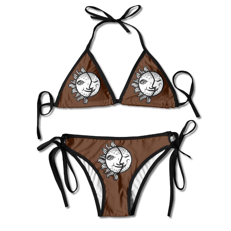 3eb40b5f71 Amazon.com: Sun Moon Women Print Bikini Popular Erotogenic Swimwear:  Clothing