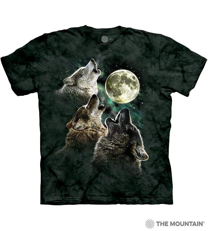 f9a0042363c2 Amazon.com: The Mountain Men's Three Wolf Moon Short Sleeve Tee: Clothing