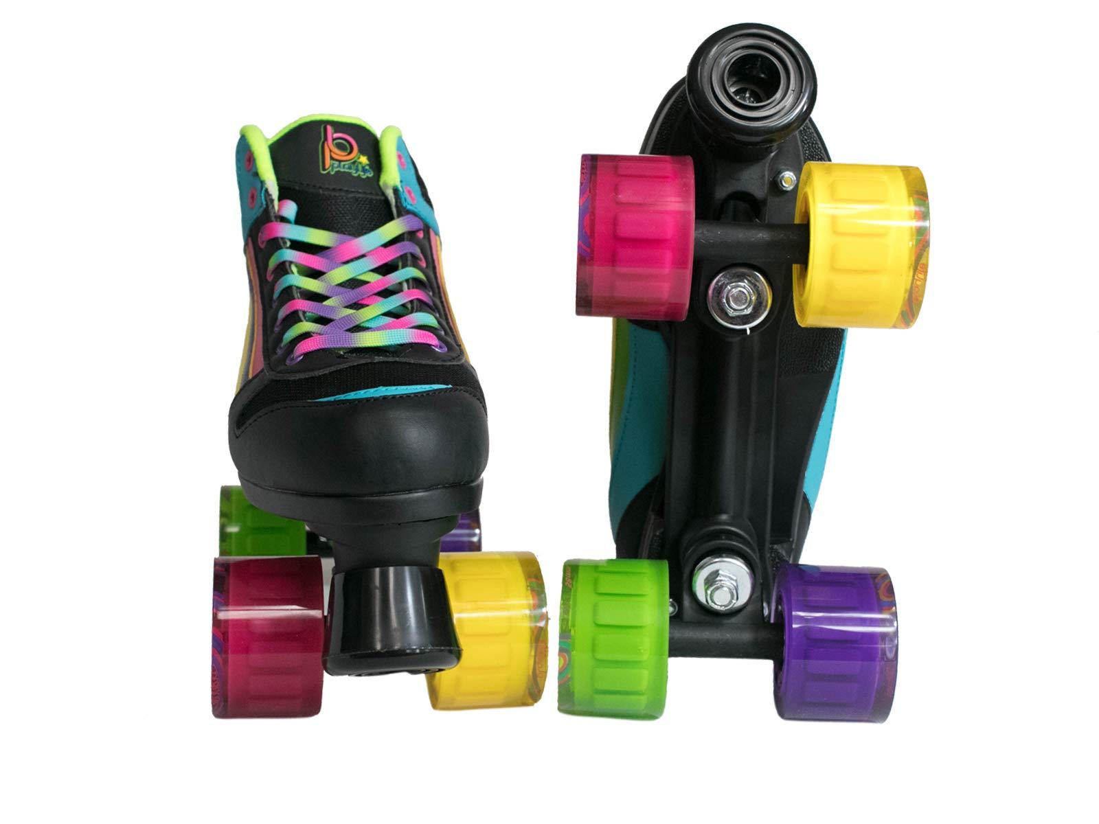 Chaya New! Playlife Groove Rainbow Indoor/Outdoor Quad Roller Skates (US 06 / EU 38)