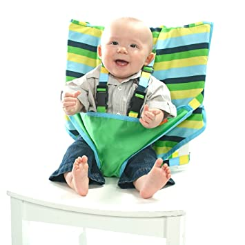 a759d3184a73 Amazon.com   My Little Seat Travel High Chair - Seaside Stripes   Childrens  Highchairs   Baby