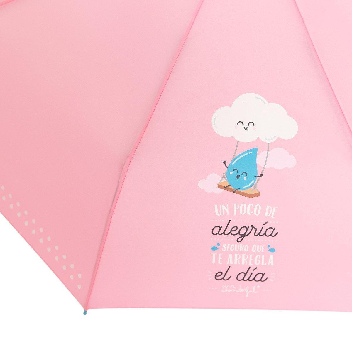 Paraguas mediano Mr. Wonderful: Un poco de alegría seguro que te arregla el día: Amazon.es: Zapatos y complementos