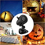 Sundlight Projector Light, LED Christmas Landscape Light with 3PCS Patterns Slides,Waterproof IP65 6W Color and White Film Light for Halloween,Christmas,Easter Holiday Decor