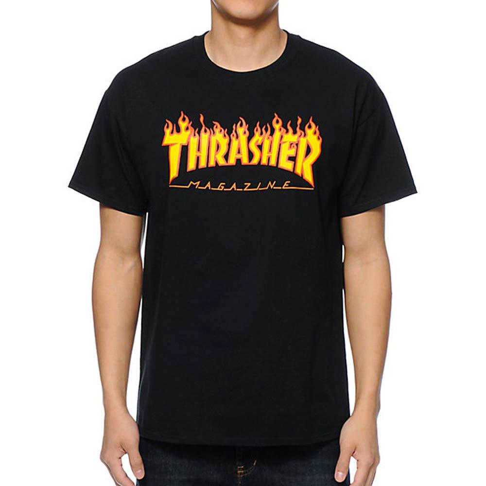 c2317d482 Thrasher Flame black T-Shirt  Amazon.co.uk  Clothing
