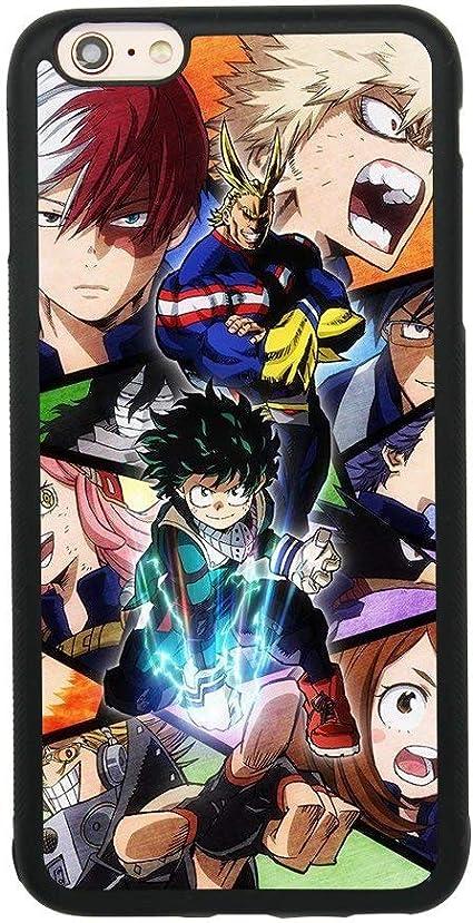 My Hero Academia Anime Manga Comic Coque pour iPhone 6 Plus/6S Plus (5,5 pouces) TPU Silicone Gel Edge PC Bumper Case Skin Imprimé Protection ...