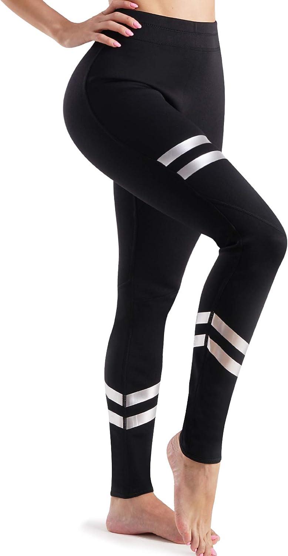 Women Sauna Pants Weight Loss High WAIS Side Pocket Neoprene Sports Leggings for Yogo