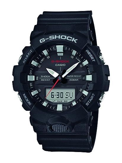 Casio Reloj Analogico-Digital para Hombre de Cuarzo con Correa en Resina GA-800-1AER: Amazon.es: Relojes
