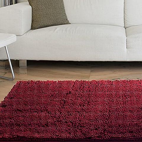 Bedford Home High Pile Shag Rug Carpet, 21 x 36