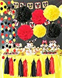 Best Mickeys - Mickey Mouse Color Party Supplies Yellow Black Red Review