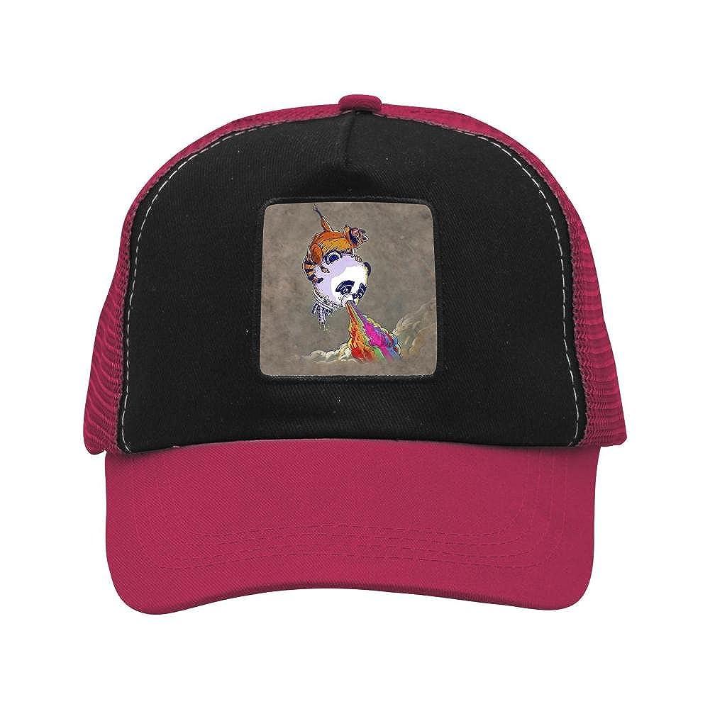 Nichildshoes hat Mesh Caps Hats for Men Women Unisex,Print Raccoon