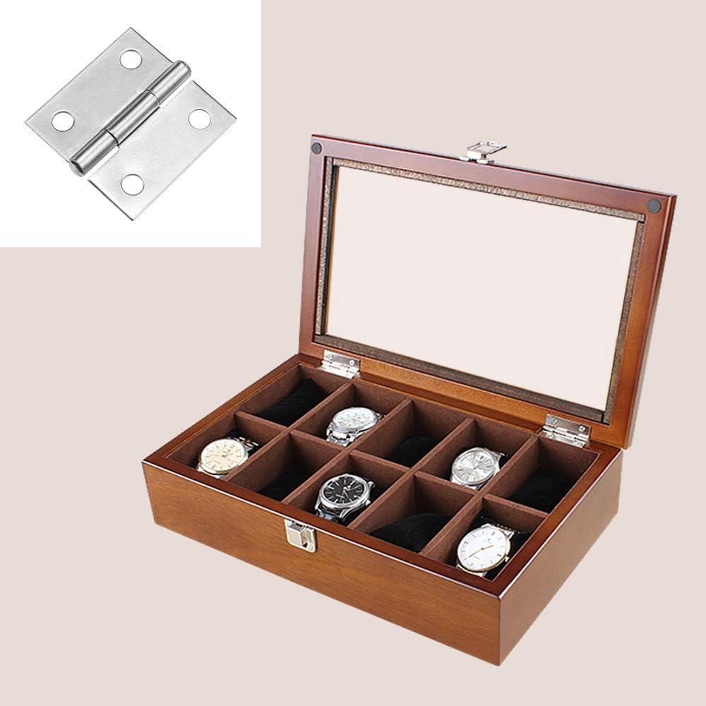 KingYH 30 Piezas Mini Bisagras 25mm Conectores de Bisagras de Acero Inoxidable con Tornillos para Caja de Madera Gabinete de Muebles en Miniatura Joyeros