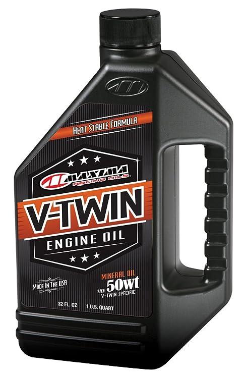 Maxima Racing Oils - Aceite de motor mineral de 50 wt para motor bicilíndrico en V
