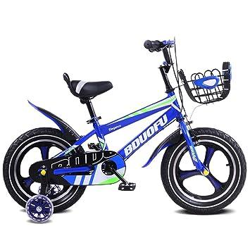 Fenfen Bicicleta para Niños 12/14/16 Pulgadas Cochecito para Bebés 2-5-8 Años Niño Bicicleta para Tres Ruedas Azul (Size : 12 Inches): Amazon.es: Hogar