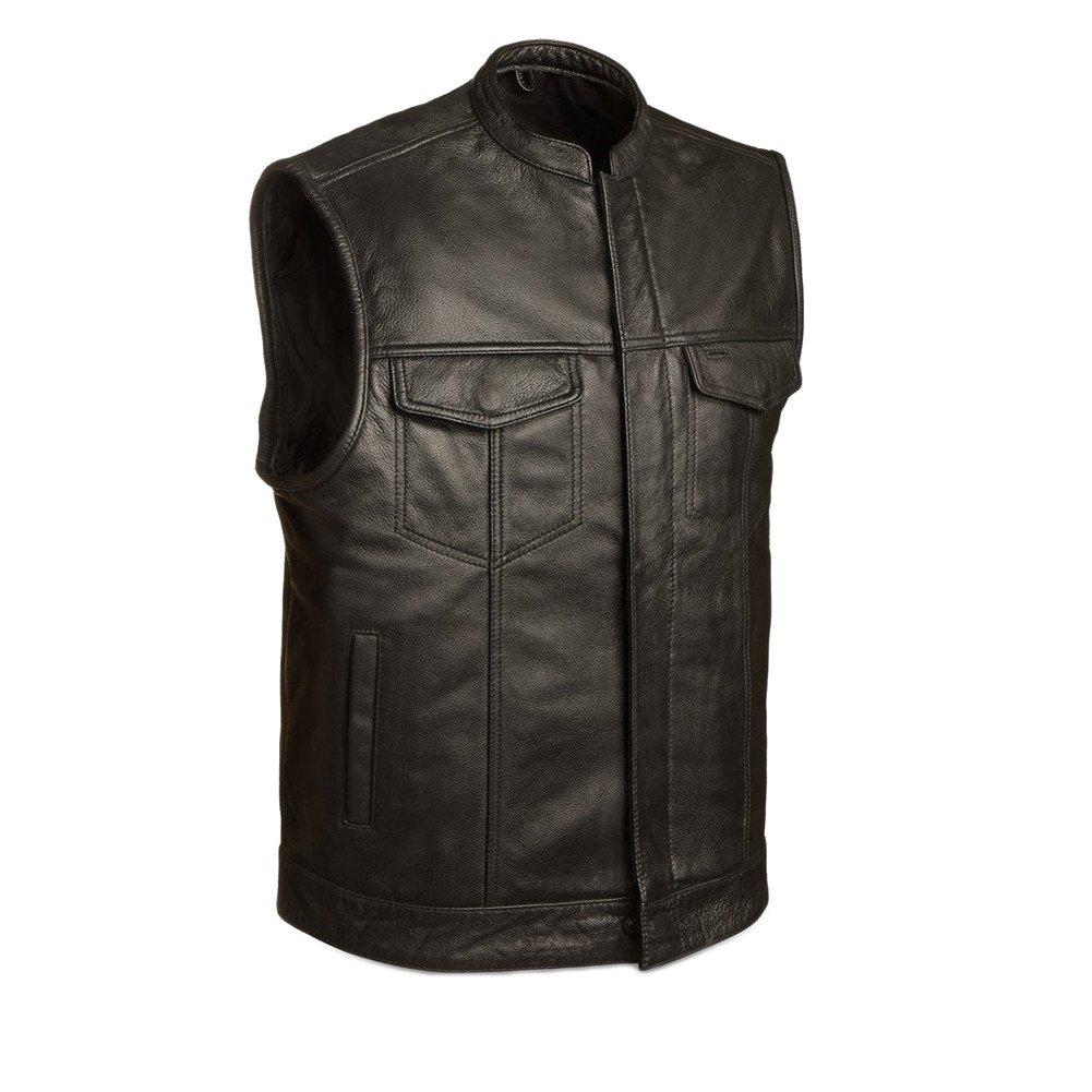 First Manufacturing Men's Blaster Motorcycle Vest, Black, L