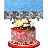 Anyana jewels edible Lace mat chandelier Silicone imprint Mold garland Sugarcraft Wedding Cake Decorating Tools scalloped Impression Gumpaste lace Kitchen chocolate Sugar Baking Mould Cookie