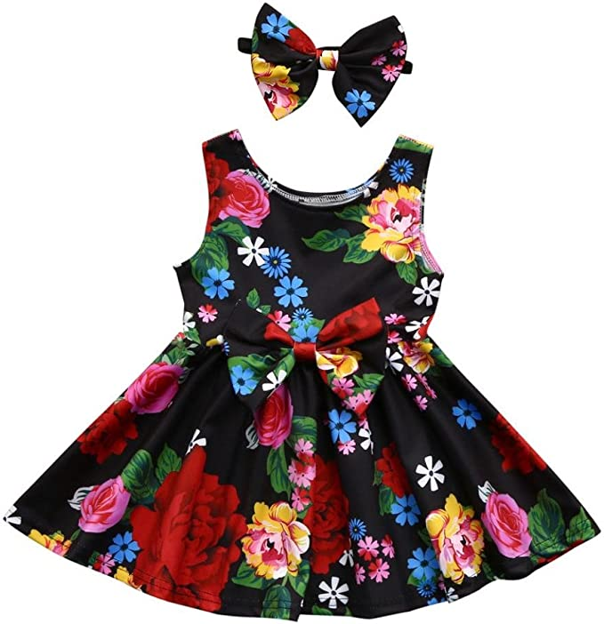 Amazon.com: hatoys verano, bebé Kid Niña Floral Bowknot ...