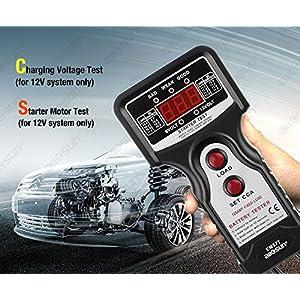 all-sun Automotive Battery Load Tester 6V/12V LED Voltage Indicator 1000 CCA Charging Voltage Test