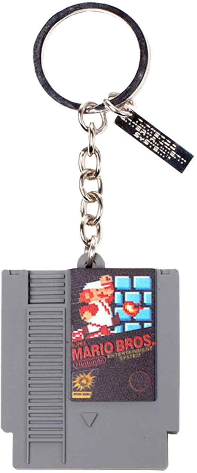 Amazon.com: Mario Bros Keyring Keychain Retro Cartridge 3D Official  Nintendo Grey Rubber: Clothing