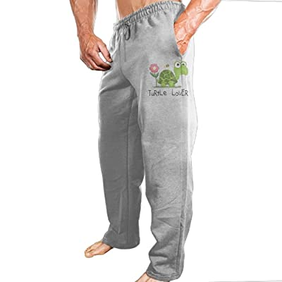 Lucy Jim Turtle Lover Mens Casual Athletics Jogger Sweatpants Ash