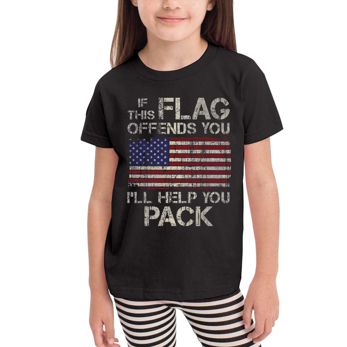 Ill Help You Pack Short Sleeve Tops Funny Crew Neck Tee Toddler Baby If This Flag Offends You