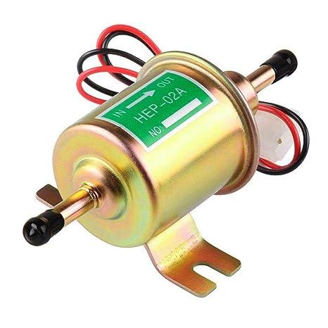 Amazon.com: Bomba de combustible eléctrica universal de 12 V ...