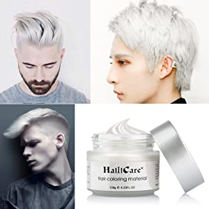 HailiCare White Hair Wax 4.23 oz, Professional Hair Pomades, Natural White Matte Hairstyle Max for Men Women, New Glass Jar (Color: White)