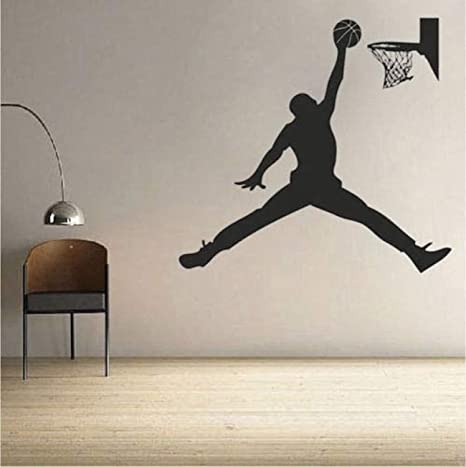 Amazon.com: Adhesivo de vinilo para pared de baloncesto ...