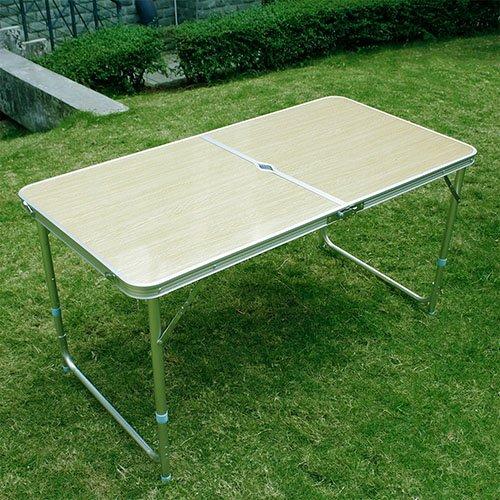 [mia.home®]Klapptisch Campingtisch Koffertisch Tisch klappbar 120x60x70 54CM (ca.60x60x7cm)