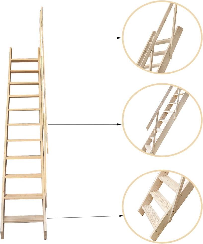 Escalera para desván de escaleras Balustrade Space Saver: Amazon.es: Bricolaje y herramientas