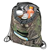 insulated cinch - Camo Insulated Drawstring Backpack Cooler Bag…water-tight PEVA lining