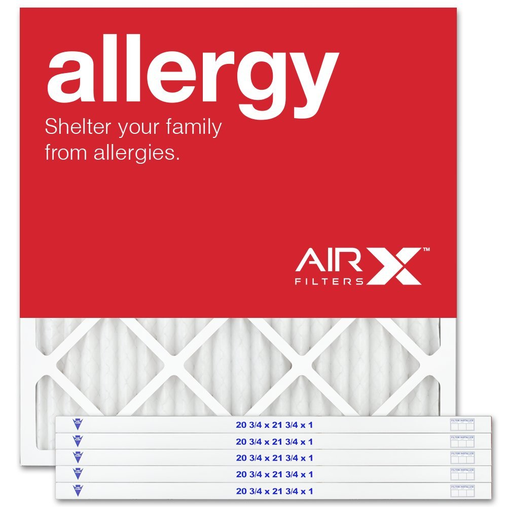 AIRx Filters Allergy 21x22x1 Air Filter MERV 11 AC Furnace Pleated Air Filter Replacement Box of 6, Made in the USA by AIRx Filters