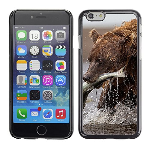 Premio Sottile Slim Cassa Custodia Case Cover Shell // V00003021 ours brun avec des poissons // Apple iPhone 6 6S 6G 4.7""