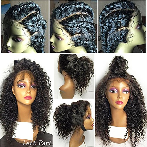 CLbuxi Hair Full Lace Human Hair Wigs for Black Women Brazilian Virgin Hair Wigs Curly Hair Glueless Lace Front Human Hair Wigs Full Lace Wigs with Baby Hair (12 inch,lace front wigs)