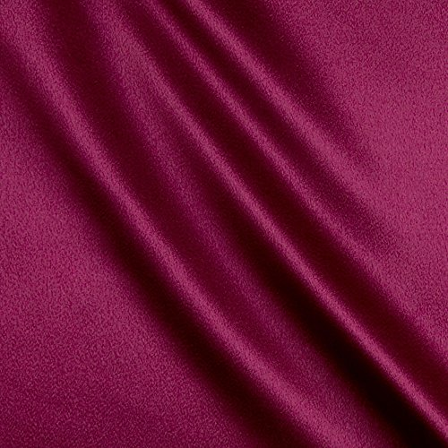 Ben Textiles Magenta Heavy Crepe Back Satin Fabric by The Yard
