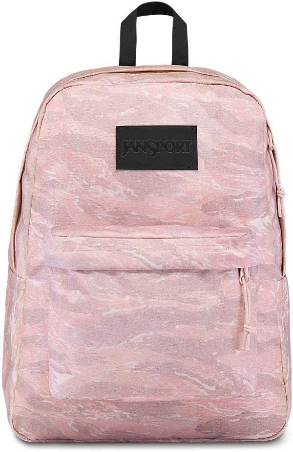JanSport Superbreak LS Backpack - Exclusive Editions of Colors & Prints | Rose Smoke Tiger Camo