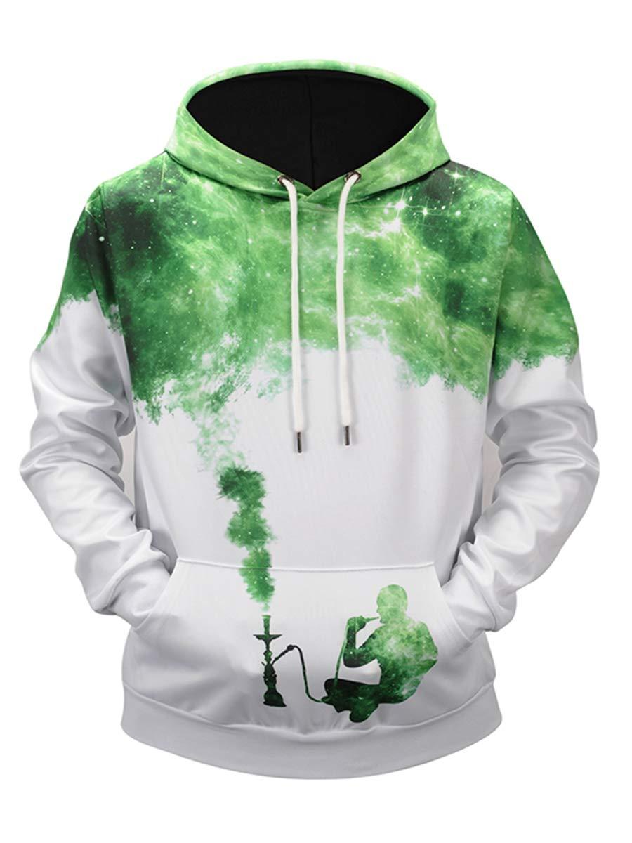 URVIP Unisex Realistic 3D Digital Print Pullover Hoodie Hooded Sweatshirts L6936 M by URVIP