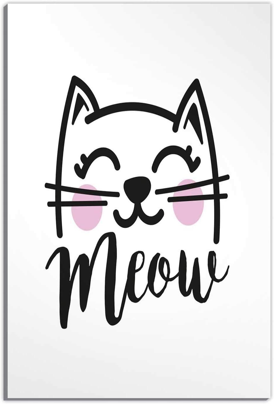 Amazon Com Hitecera Cat Meow Drawing Writing No 3690 Wall Art Decor For Living Room Painting Canvas Set 12 X18 Home Kitchen,Patty Pan Squash