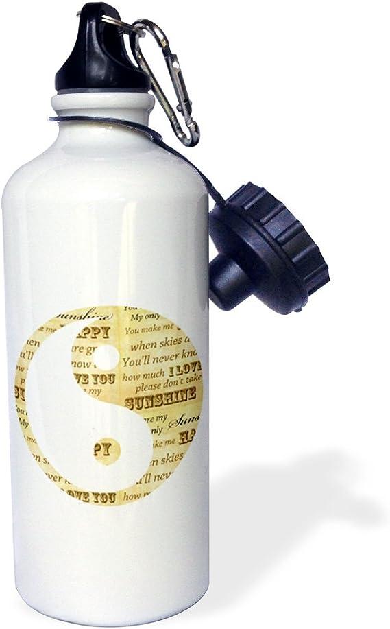 Amazon Com 3drose You Are My Sunshine Yin Yang Inspirational Art Sports Water Bottle 21 Oz White Kitchen Dining
