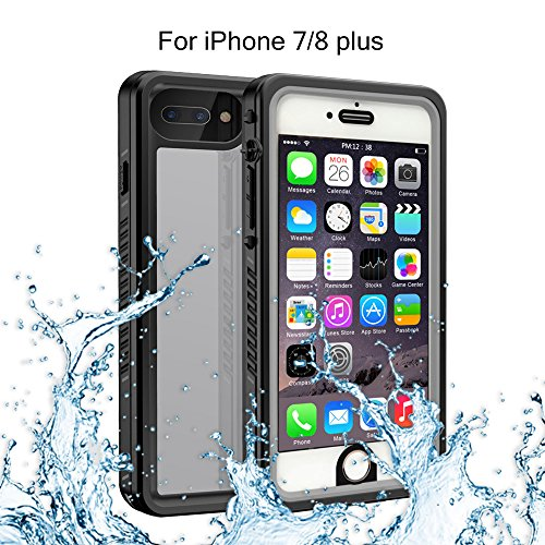 (iPhone 7 Plus iPhone 8 Plus Waterproof Case, Re-sport Shockproof Dustproof Snowproof Full-sealed Protective Underwater Phone Case Cover IP68 Certified Compatible with iPhone 7 Plus/ 8 Plus 5.5inch)