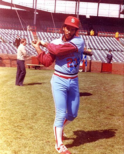 Orlando Sanchez Autographed/ Original Signed 8x10 Color Photo Showing Him w/ the St. Louis Cardinals
