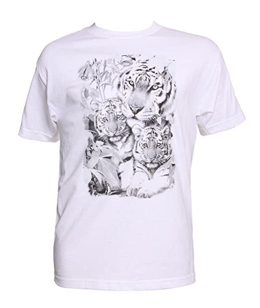Color Changing Shirts >> Amazon Com Mens Color Changing Tiger Family T Shirt Clothing