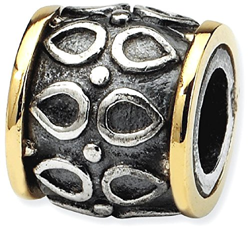 ICE CARATS 925 Sterling Silver 14k Charm For Bracelet Barrel Bead Bali Fine Jewelry Gift Set For Women Heart