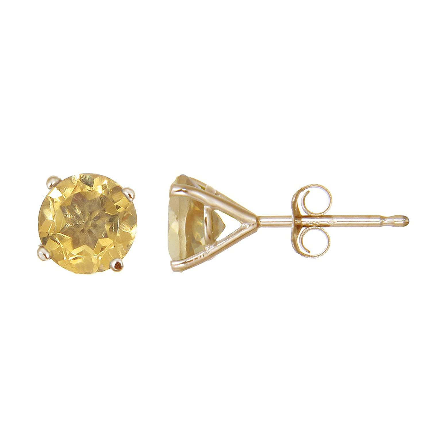 earrings contemporary stud citrine style silver