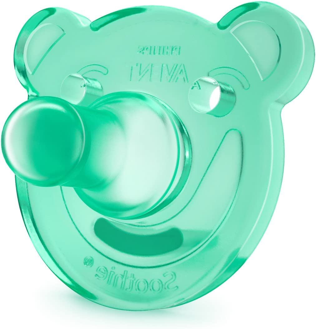 de 0 a 3 meses Philips Avent Soothie color azul y verde ni/ño Pack de 2 Chupetes calmantes de silicona m/édica sin BPA