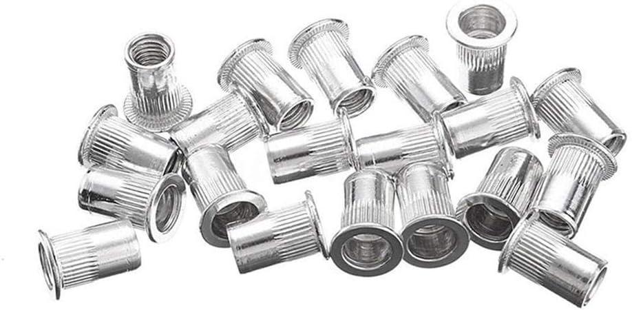 remache ciego kit de herramientas remache ciego Juego de remaches manuales de tuerca remachadora de mano M3//M4//M5//M6//M8 con llave roscada