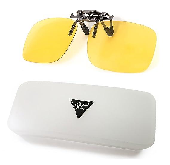 5143185fc73 GREAT PICK Clip on Polarized Night Vision Glasses Flip up Anti Reflective  Anti Glare UV-