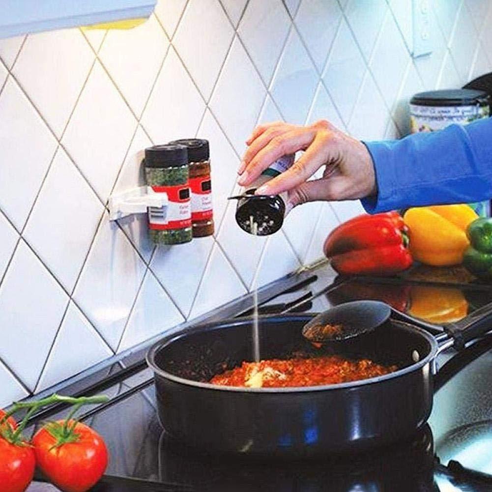 Kitabetty Clip per Spezie per Porte dellArmadio 4 Pezzi//Set Carrier di Condimento da Cucina Organizzatore di Spezie Rack Stick Pinza di Stoccaggio Portabottiglie Facilmente per Condimento