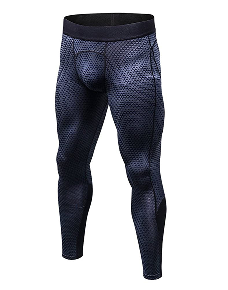 ONCEFIRST Mens Compression Pants Baselayer Sports Tights Quick Dry Leggings
